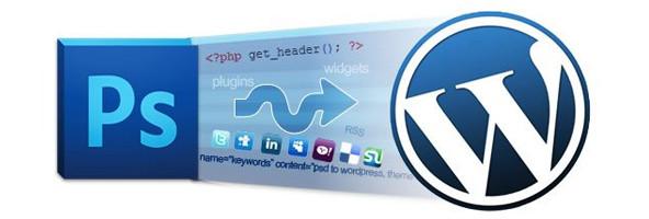 Servizio di conversione da Photoshop a WordPress.
