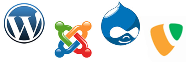 Wordpress, Joomla, Typo3, Drupal